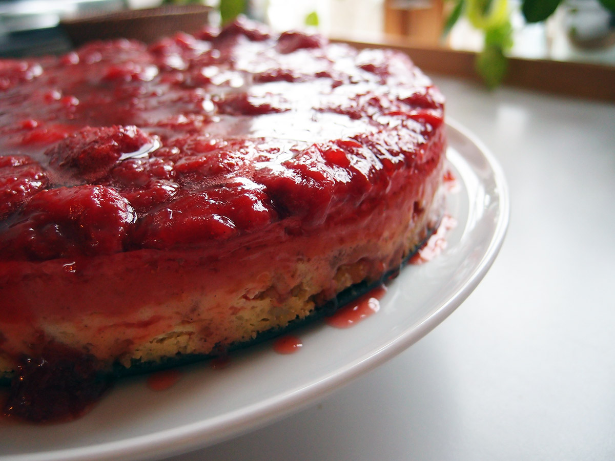 jordbær cheesecake, cheesecak