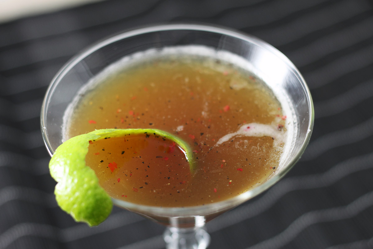 spicy and stormy, drink, peber, lime, rom, ginger beer
