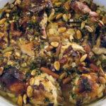 Rabarberkylling med løg, mandler og krydderier