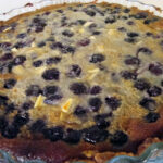 Blåbærtærte med marcipan og hvid chokolade