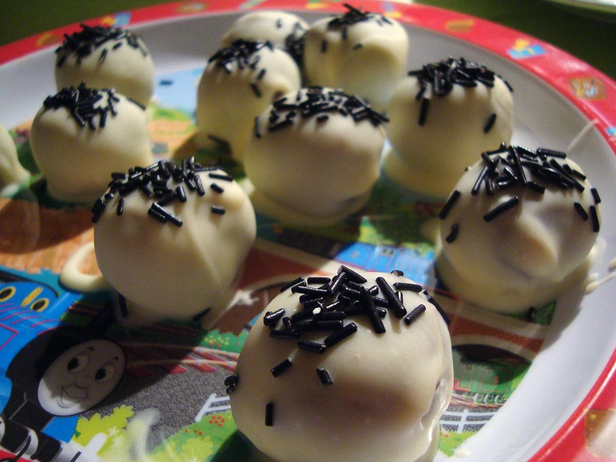 Chokoladetrøfler med gorgonzola
