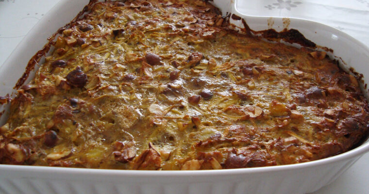 Selleripostej med kartofler og hasselnødder