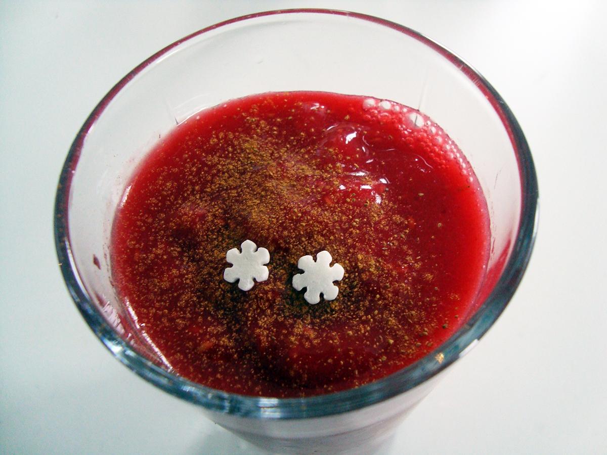 Julesmoothie – smoothie med kanel og hindbær