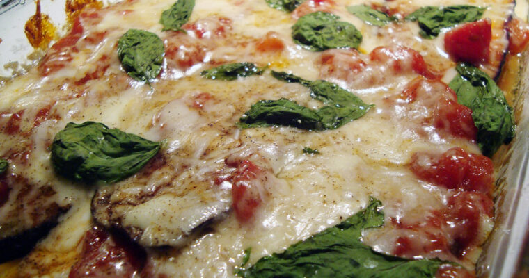Auberginegratin med pecorino