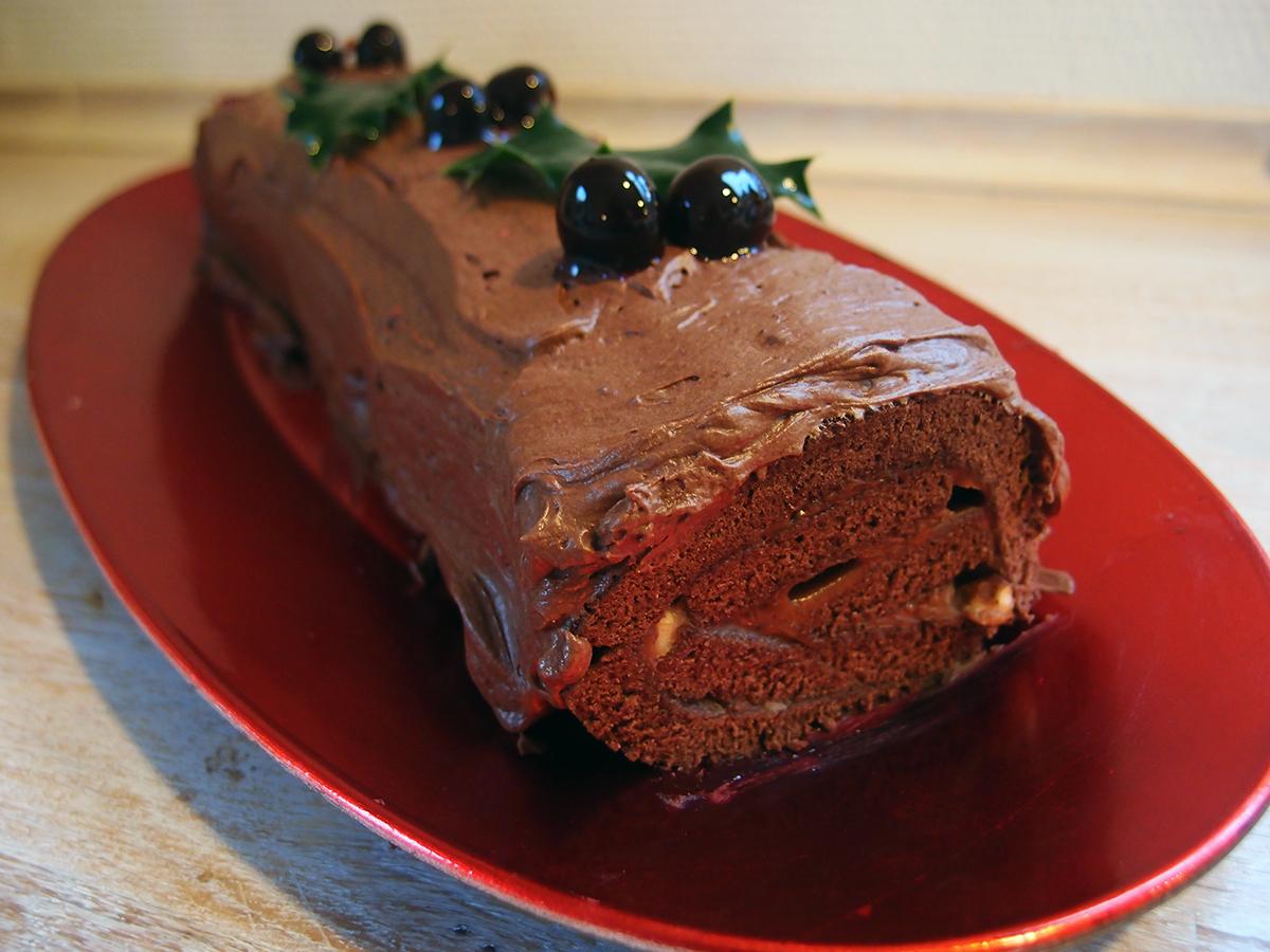 Bûche de Nöel – fransk chokoladeroulade