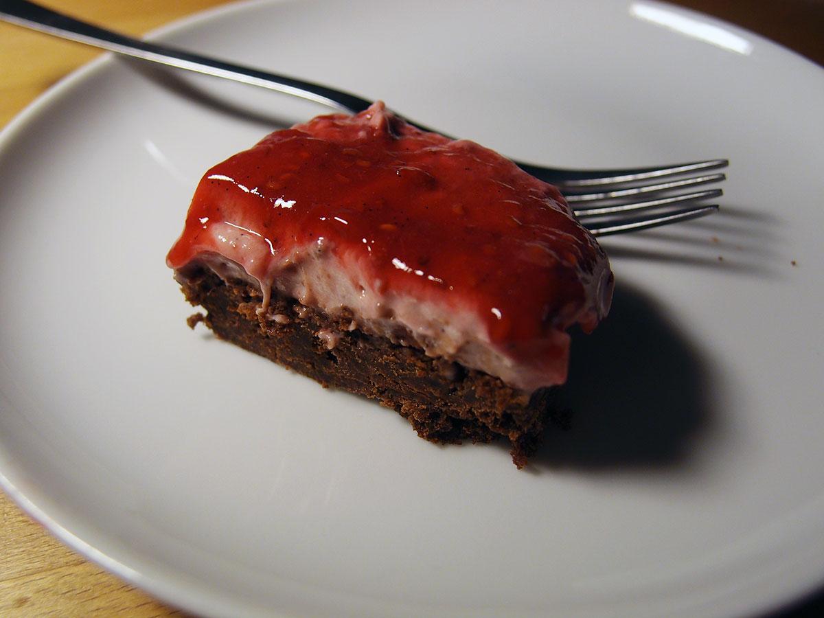 Chokoladetærte med bærmascarpone
