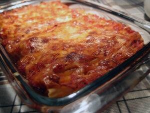 cannelloni, italiensk, vegetar, pastarør, pasta, fennikel, muskatnød, ricottaost, emmenthaler, ost