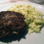 Oksebøf med feta, spidskål med Prima Donna-pesto