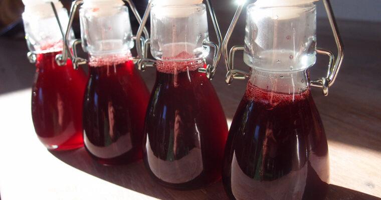 Hindbærsirup og ruggrød