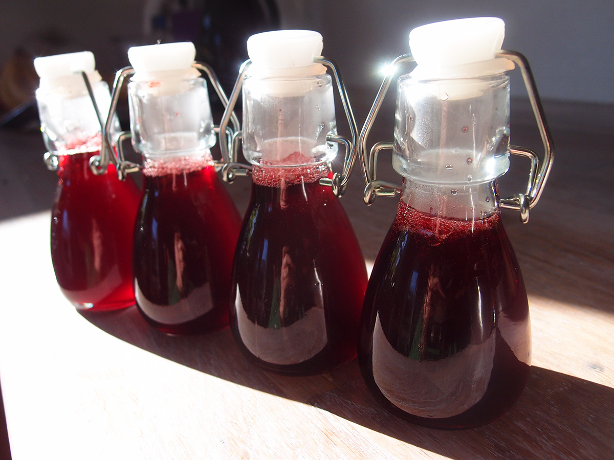 hindbærsirup, sirup, hindbær, rørsukker