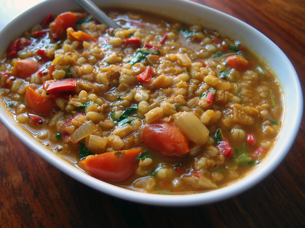 Linsesuppe – India style