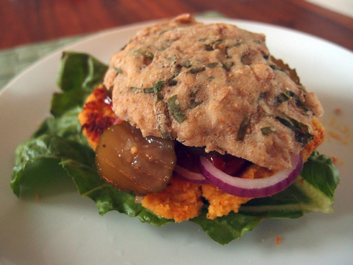 vegansk burger, veganer-burger, burger, kikærter, hvedemel, paprika