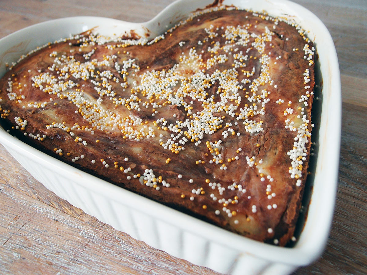 Chokoladekage med flødeost