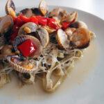 Hjertemuslinger med snackpeber og pasta