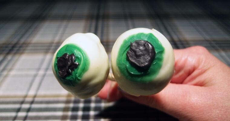 Chokolade-øje på stilk – Halloween slik