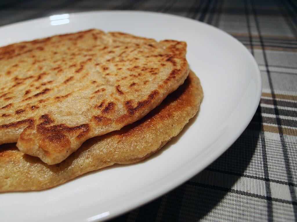 pandebrød, brød, pandekager, hvedemel, svedjerug, smør, bagepulver
