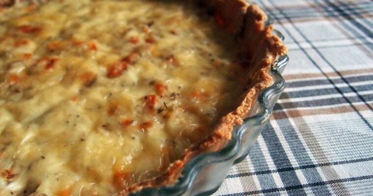 Løgtærte med ost