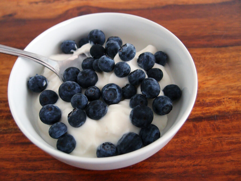 morgenmad, græsk yoghurt, blåbær, lchf, sukkerfri