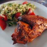 Grillet kylling med paprika-rub og tomat-squash-salat – LCHF-style