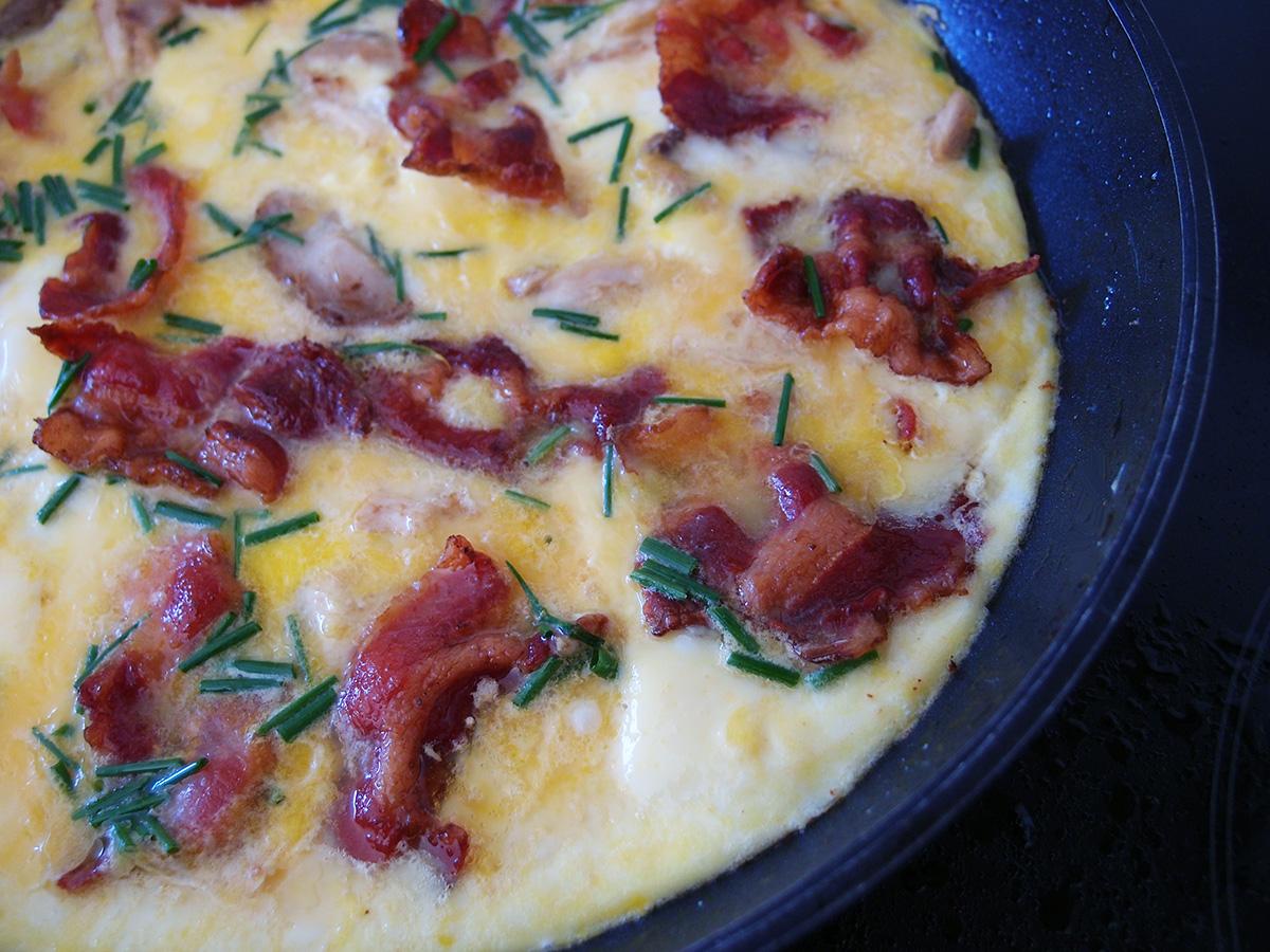 Kylling-bacon-æggekage - LCHF-style