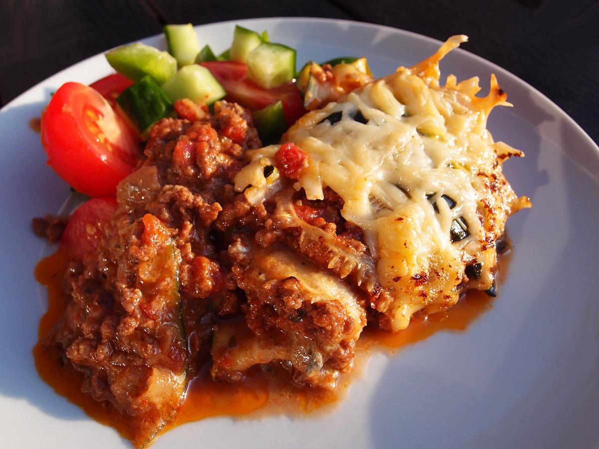 LCHF-lasagne med squash