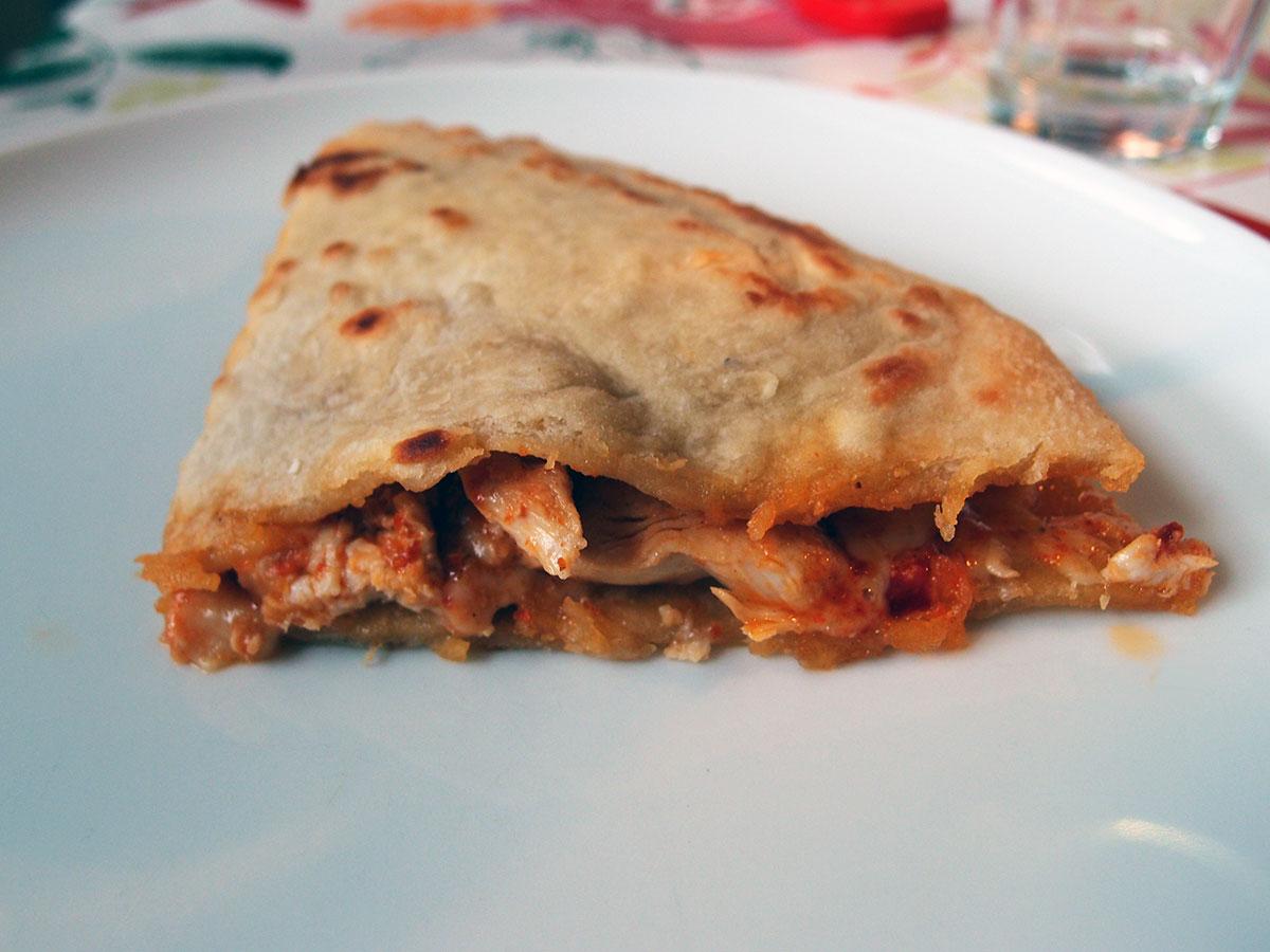 sincronizada, quesadilla, mexicansk, tortilla, kylling, cheddar, peberfrugt, chili, tortillas