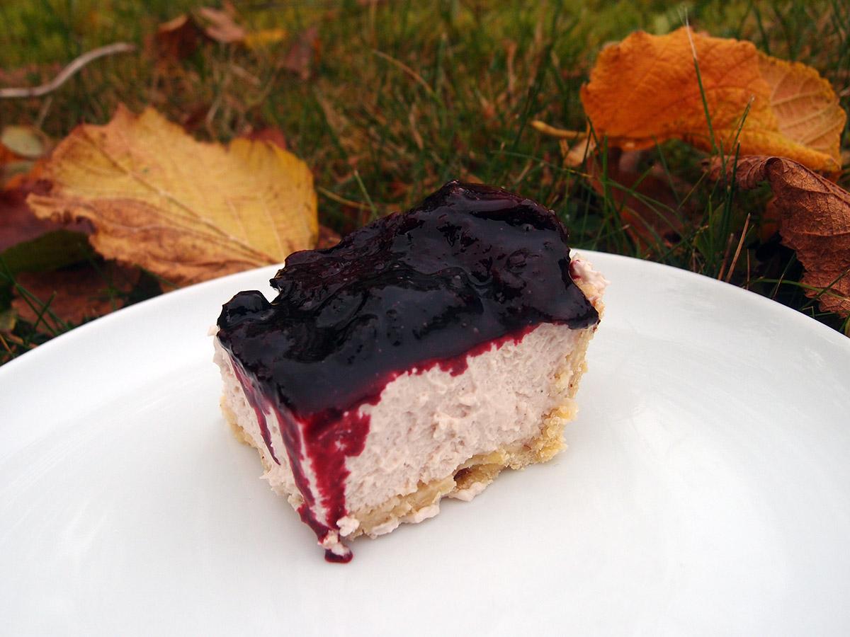 Blomme-blåbærtærte med mascarpone
