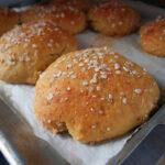 Havregryns-sandwichboller