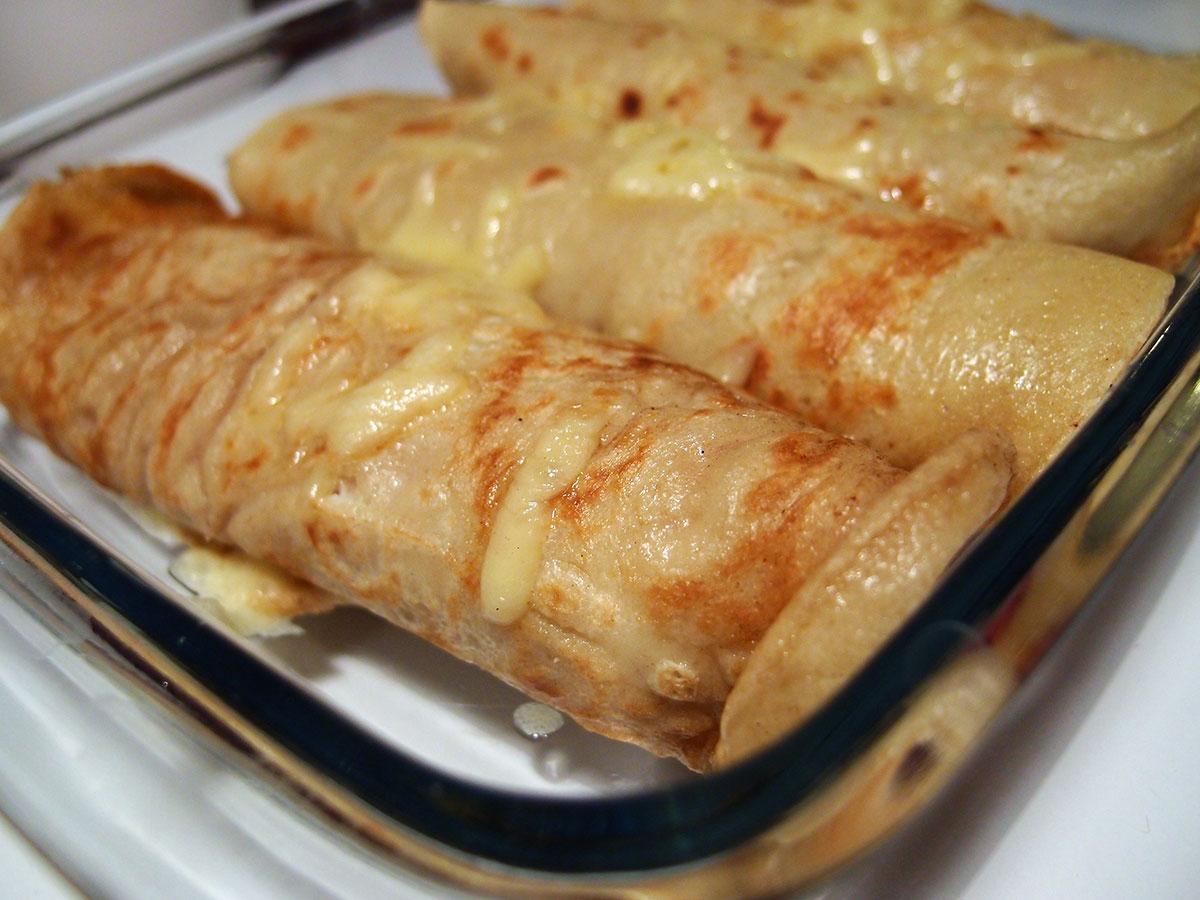Toastpandekager - med skinke og ost