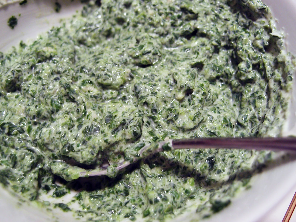 spinatcreme, spinat, yoghurt naturel, hvidløg