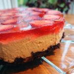 Jordbær-cheesecake