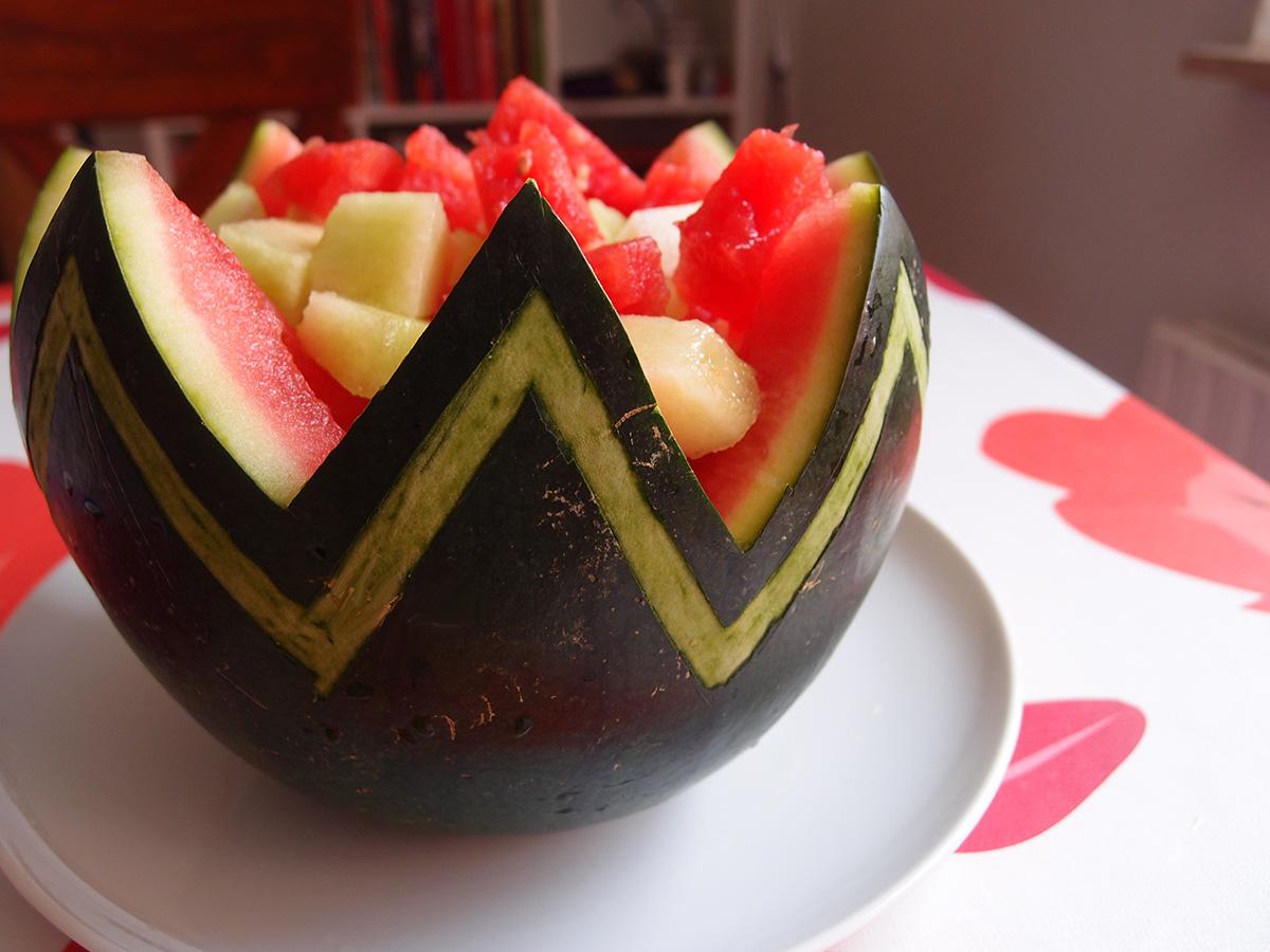 Sådan laver du en vandmelonskål