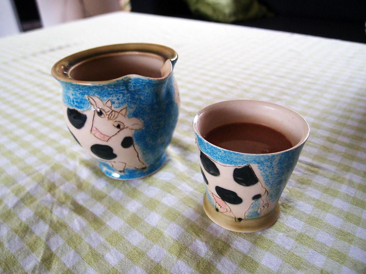 Varm mælkechokolade med kaffelikør