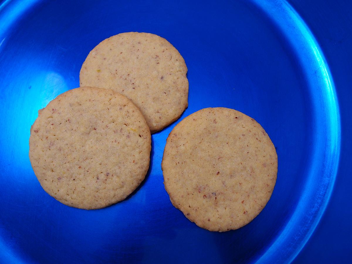 vaniljesmåkager, småkager, julesmåkager, kage, dessert, vanilje, hvedemel, smør, æg, rørsukker, mandler, citroner