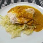Fisk med hvidkål og karryfløde