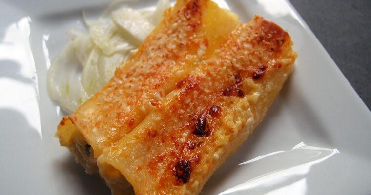 Cannelloni med ricotta, citron og basilikum