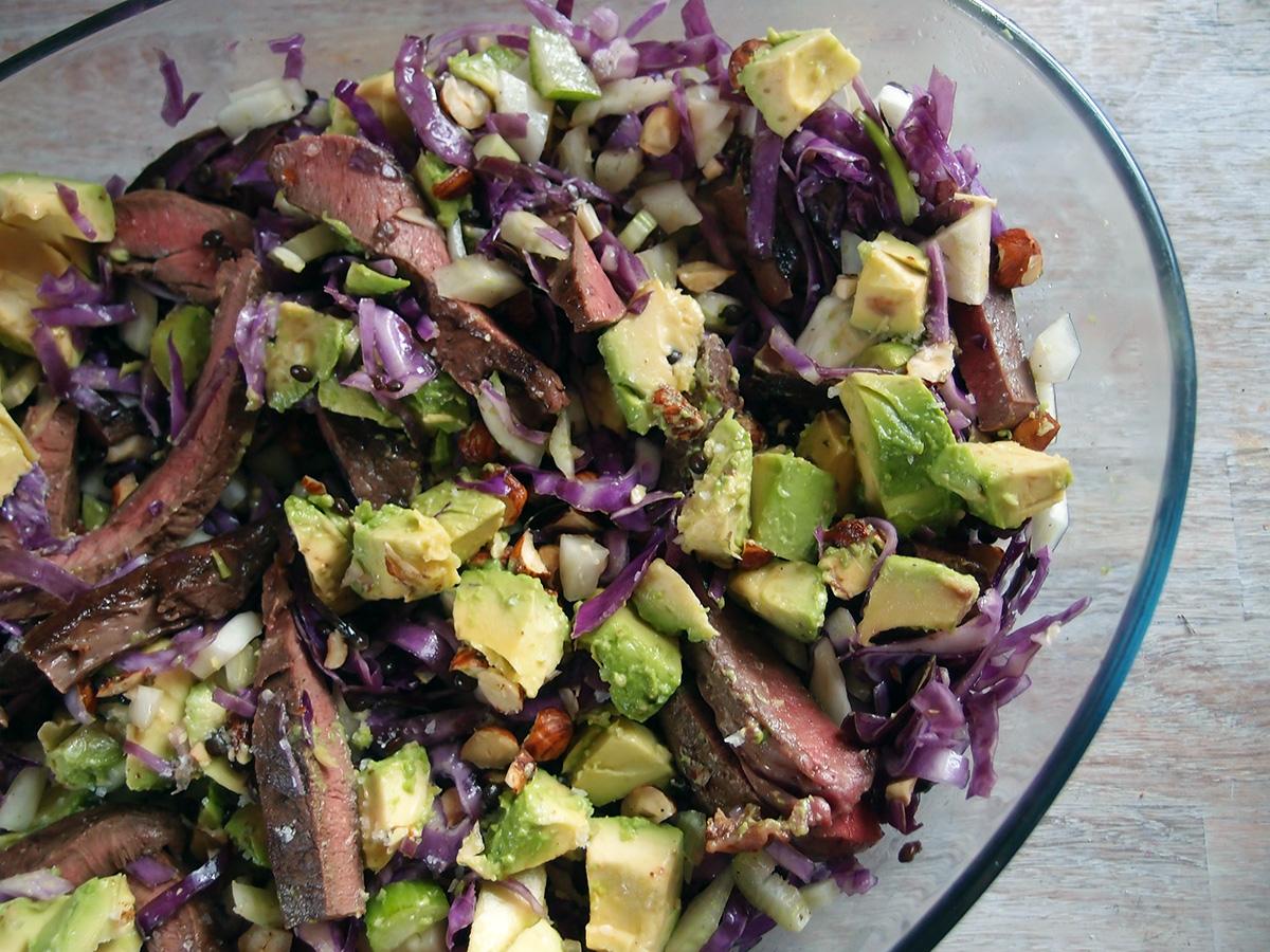 Salat med kalvehjerte og spidskål