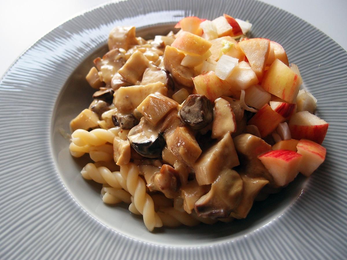 Karl Johan svampe med pasta og æbler