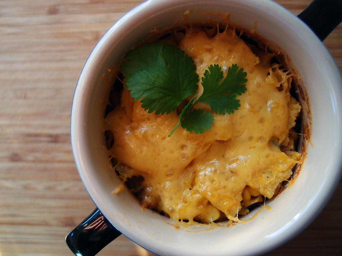 Chilaquiles med majs og kylling
