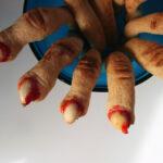 Zombiefingre - Halloween-småkager
