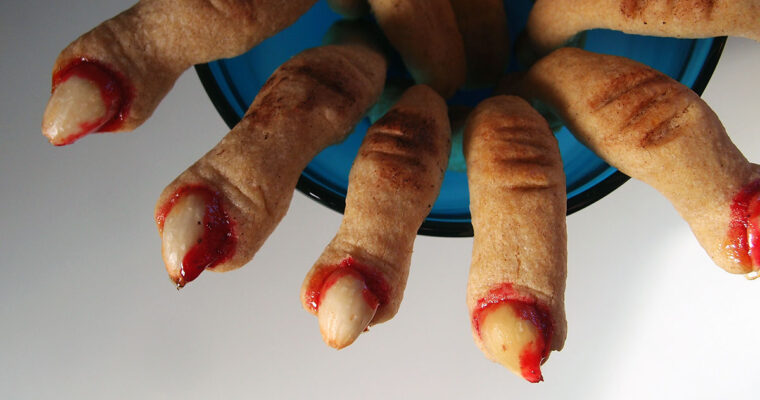 Zombiefingre – Halloween-småkager