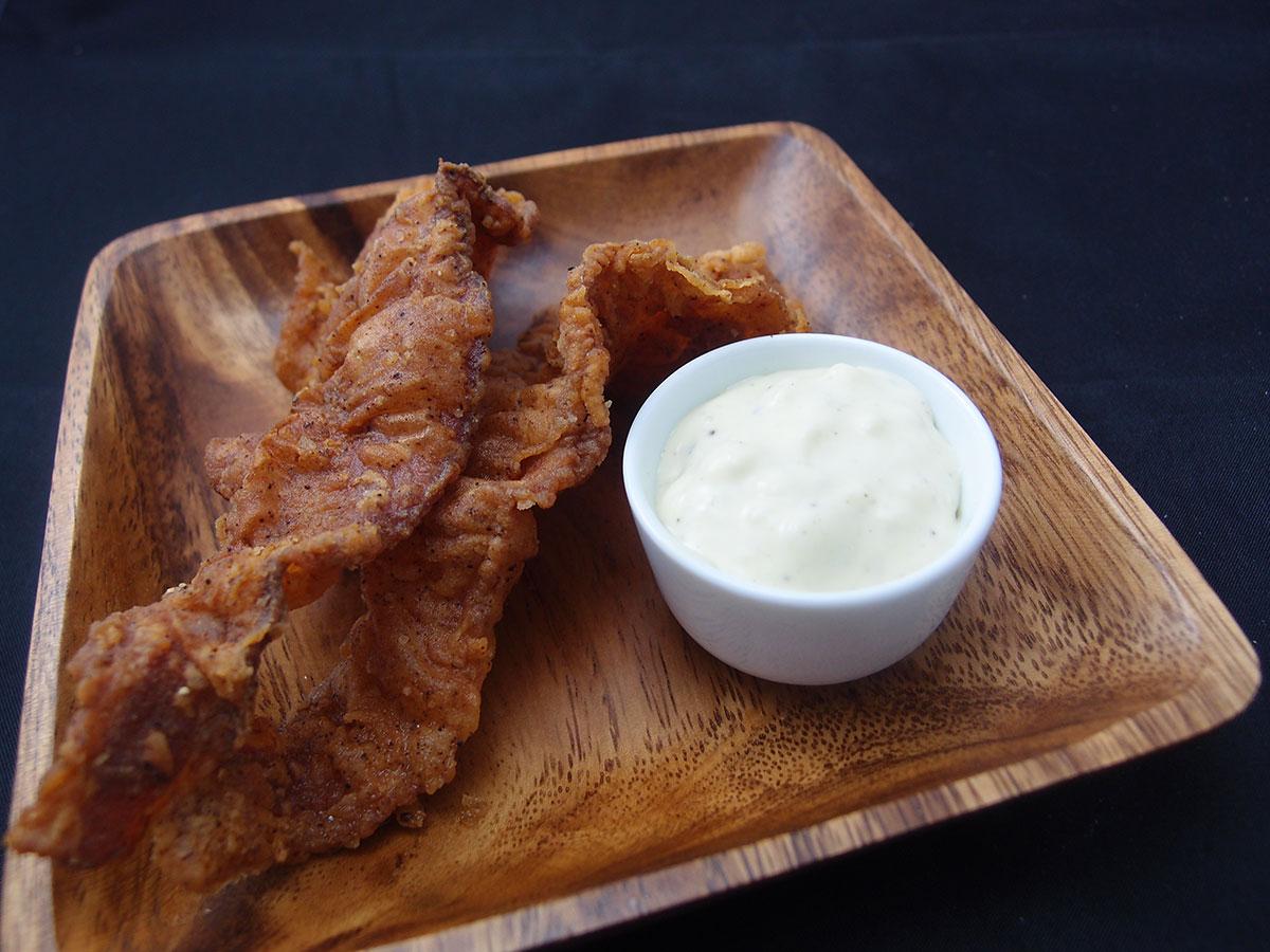 Friteret bacon