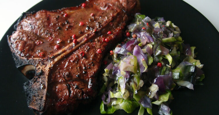Flammestegte steaks