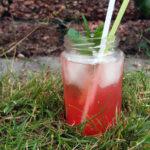 Rabarberdrink med ingefærøl