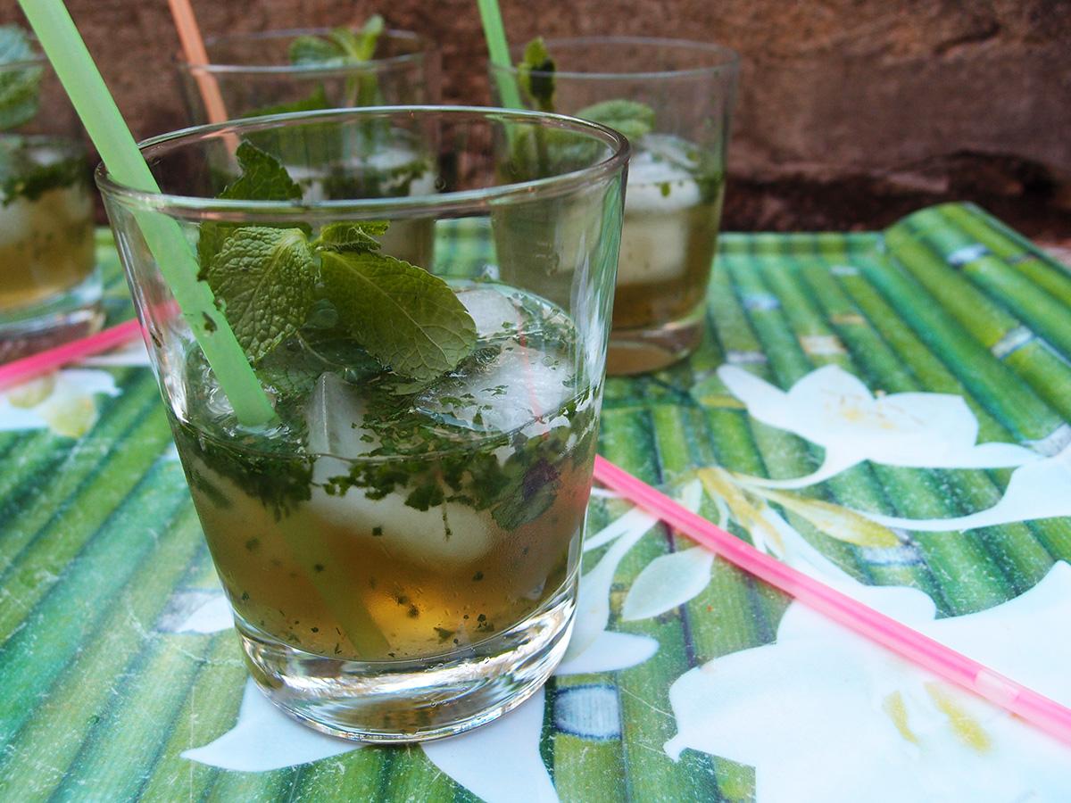 mint julep, drink, myntedrik, myntedrink, mynte, rørsukker, bourbon, whisky