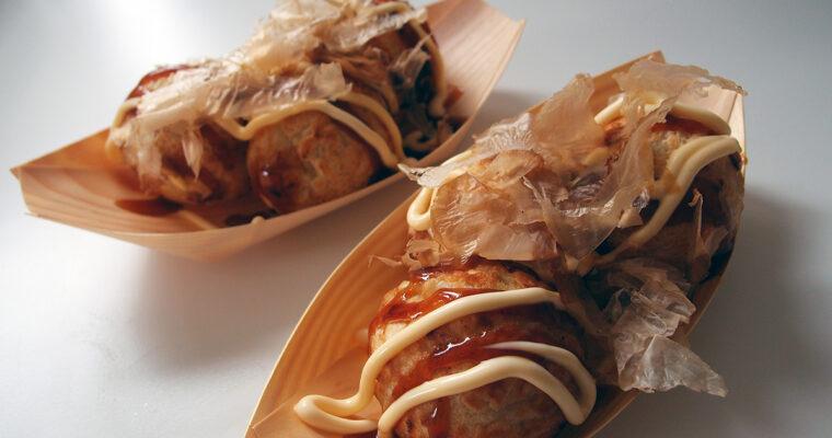 Takoyaki – indbagt blæksprutte