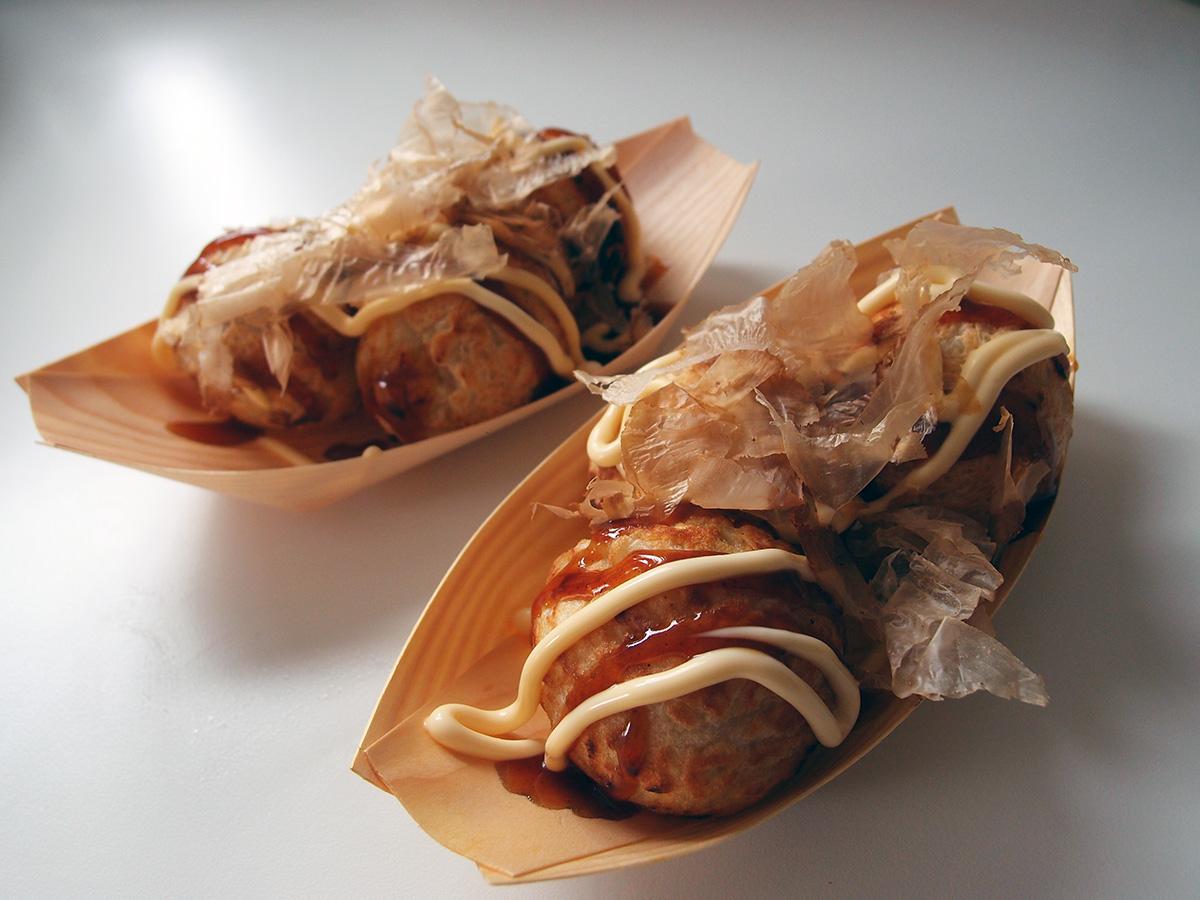 Takoyaki - indbagt blæksprutte