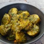 Aloo palak – kartofler med spinatcreme