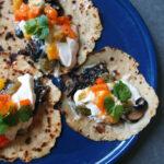 Vegetar-tacos med svampe