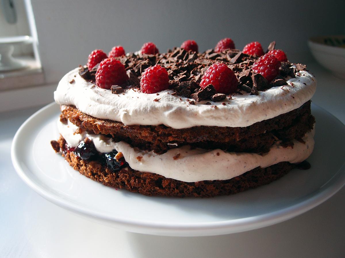 rugbrødslagkage, lagkage, kage, dessert